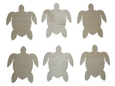"Sea Turtle Cut Outs Unfinished Wood Mini Turtles 3"" Inch 6 Pieces TURT-06"