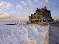 Winter in Constanta, Romania.
