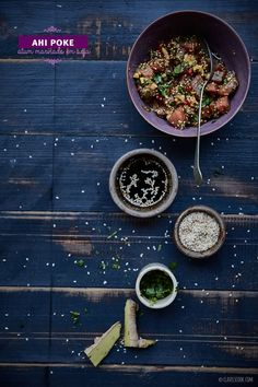 Clavel's Cook: Mudanças frescas {Ahi Poke - atum marinado em soja}