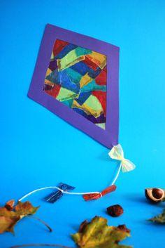 Drachen aus Schnipseltechnik