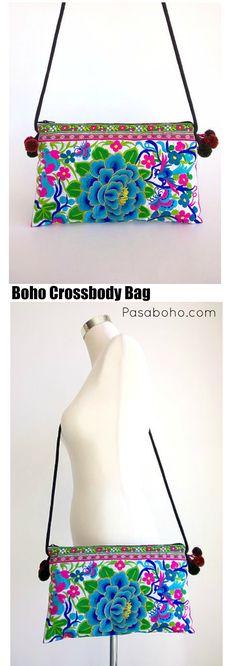 $21.90 - White Boho Crossbody Bag from Pasaboho  (Free Shipping Worldwide)
