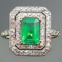 Colombian Emerald Art Deco Ring