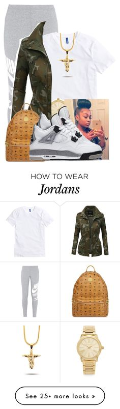 """""""I Only Rock Designer When I Pop Out"""" by aniahrhichkhidd on Polyvore featuring NIKE, Michael Kors, LE3NO and MCM"""