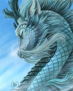 Dragons are mythical creatures that often appear in fantasy stories about knights and princesses. Magical Creatures, Fantasy Creatures, Dragon Illustration, Dragon Artwork, Cool Dragons, Blue Dragon, Dragon Head, Beautiful Dragon, Dragon's Lair