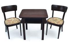 Stolek čajový se dvěma židlemi, 50.léta.  #vetešnictví #bazar #bazarnábytku #retro #junkshop #vetesnictviukopretinky #stůl #židle
