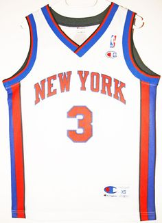 Champion NBA Basketball New York Knicks #3 Stephon Marbury Trikot / Jersey Size 36 - Größe XS - 59,90€ #nba #basketball #trikot #jersey #ebay #etsy #hood #sport #fitness #fanartikel #merchandise #usa #america #fashion #mode #collectable #memorabilia #allbigeverything