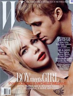 Michelle Williams and Ryan Gosling. W Magazine