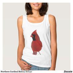 Northern Cardinal Bird Basic Tank Top
