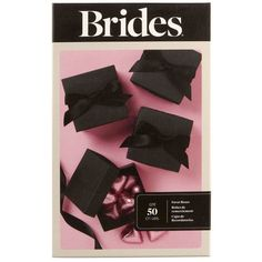 These simple, yet elegant, matte, black favor boxes include black satin ribbon for wrapping...