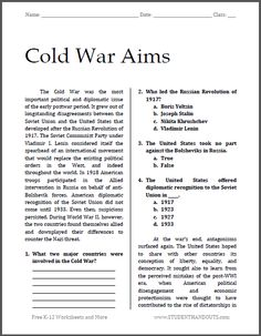 Printables Cuban Missile Crisis Worksheet cuban missile crisis review activity jfk activities and student cold war aims free printable worksheet for high school american history