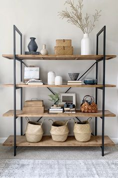 Home Office Redo with Shiplap and IKEA Hack Desk Apartment Therapy Cheap Home Decor, Diy Home Decor, Ikea Home Office, Home Office Shelves, Office Bookshelves, Estilo Interior, Transitional House, Transitional Shelving, Furniture For Small Spaces