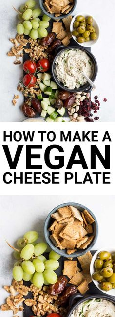 How to Make a Vegan Cheese Plate is part of Vegan appetizers Thanksgiving - Make a delicious, summery cheese plate that's completely vegan! Perfect for a light dinner or appetizer! Vegan Appetizers, Vegan Snacks, Beef Recipes, Whole Food Recipes, Tapas Recipes, Vegan Vegetarian, Vegetarian Recipes, Vegan Finger Foods, Vegan Foods