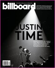 "Justin Bieber Billboard Cover ""Justin Time"""