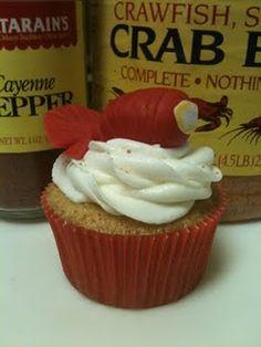 Crawfish Tail Cupcake