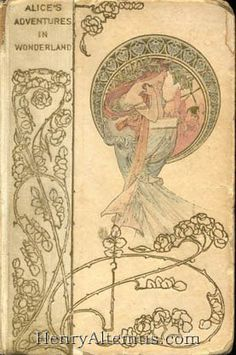 'Alice's Adventures in Wonderland' Art Nouveau book cover