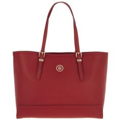 db5e782826b Tommy Hilfiger Honey Medium Tote Red in red, Handle Bags ($165) ❤ liked