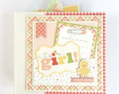This baby boy scrapbook mini album is available as a DIY kit ($42.99) or pre-made ($55.99) and will make a wonderful keepsake for all of those