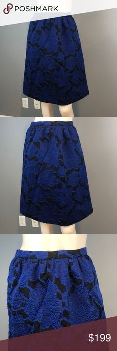 NWT NEW womens ladies size 2 8  black aqua blue DEREK LAM full skirt $54 retail