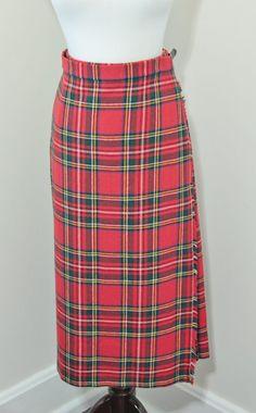 Vintage Tartan Plaid Long Skirt Scottish by foundundertheeaves, $40.00