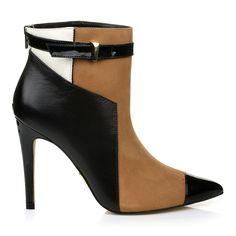 Ankle Boot Salto Alto Lux Preto - UZA Shoes