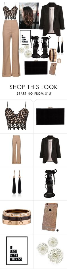 """""""I like nice things !"""" by zejna-husic ❤ liked on Polyvore featuring Bardot, Charlotte Olympia, Nina Ricci, WithChic, SUSAN FOSTER, Schutz and Cartier"""