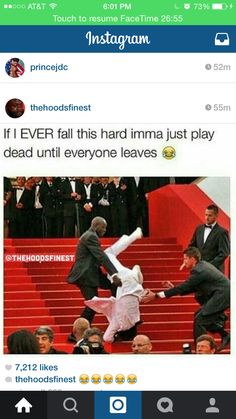 Lol for real! If I ever fall this hard I might be dead! Stupid Funny, Funny Cute, The Funny, Hilarious, Funny Relatable Memes, Funny Posts, Twisted Humor, Just For Laughs, Laugh Out Loud