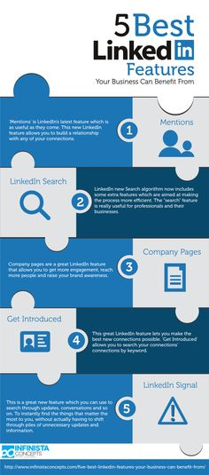 5 best Linkedin features your business can benefit from #infographic