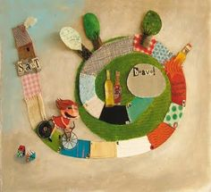 the art room plant: Anne Crahay Fun Crafts, Crafts For Kids, Paper Crafts, Paper Collage Art, Paper Art, Aluminum Can Crafts, Illustration Art, Illustrations, Crafty Kids