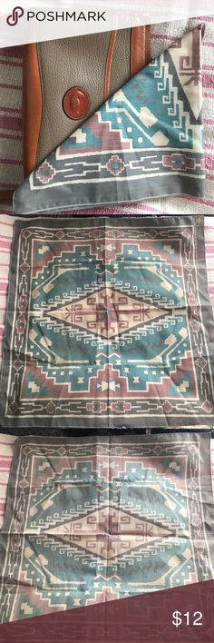 Vintage Muted Navajo Desert Palette Bandana Get festival ready with this gorgeous Navajo print bandana! Perfect tied around your neck with a pretty bralette and your go-to shorts! This would also look super cute tied around your purse! This is an early nineties style with delicious earthen hues! In fantastic vintage condition! Vintage Accessories Scarves & Wraps