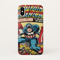 Captain America Comic #193 iPhone X Case - diy cyo customize create your own personalize