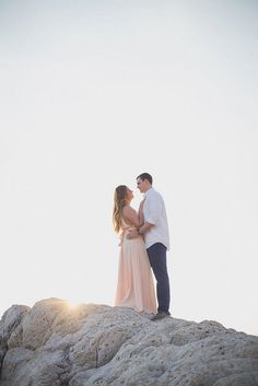 Maxi dress engagement outfit | Image by DoctibPhoto