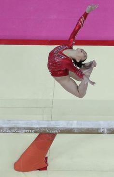 U.S. gymnast Kyla Ross performs on the balance beam during the Artistic Gymnastic women's team final