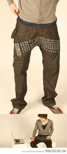 Keyboard jeans that actually function? If anything is bizarre, that is.