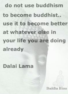 Buddhism, Christianity, Islam and so on are just labels, not who we are. Just as any and all other forms of theological, spiritual, or metaphysical belief systems. We are not our beliefs or theories. Life is wholly an experiential journey, not a mental dance. So live LIFE. Find peace, love and truth where you may, but above all LIVE without the attachment of restrictive labels. At the core of our living experience, peace, love and truth is what we all seek regardless of semantics…