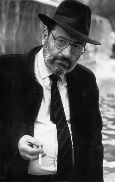 Umberto Eco (1932) - Italian semiotician, essayist, philosopher, literary critic, novelist. Photo by Irving Penn