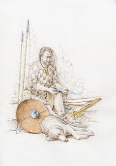 Vaccaei warrior and his hound by Luis Pascual Repiso Iron Age, Ancient Rome, Ancient History, Spain History, Military Costumes, Warrior Drawing, Celtic Warriors, Dark Ages, Medieval Fantasy