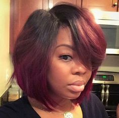 Fine Bobs And Burgundy On Pinterest Hairstyles For Women Draintrainus