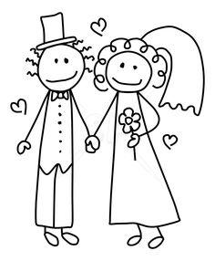 Google Image Result for http://stickfiguresclipart.com/wp-content/gallery/bride-groom/marriedcouplebw1050x1275.jpg