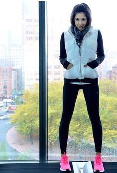 Helo Gomes do Sanduíche de Algodão - inspiração look workout outfit