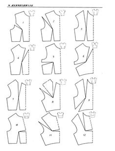 Image gallery – Page 560416747370894487 – Artofit Easy Sewing Patterns, Sewing Tutorials, Clothing Patterns, Sewing Projects, Pattern Drafting Tutorials, Pattern Draping, Bodice Pattern, Bra Pattern, Techniques Couture