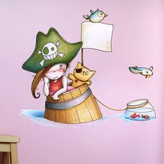 Pirata naufragée - Sticker