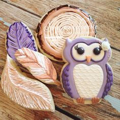 Another sneak of a few cookies to this fall theme in colors! I loved getting your list of likes - Owl Sugar Cookies, Bird Cookies, Fall Cookies, Cute Cookies, Cupcake Cookies, Cupcakes, Cookies Decorados, Galletas Cookies, Thanksgiving Cookies