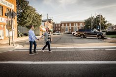 Looking for an urban vibe, Jennifer and Kirk headed to the Leonardtown Square for their engagement pics! City Vibe, Engagement Pictures, Photo Shoots, Maryland, Wedding Photos, Southern, Urban, Weddings, Couples