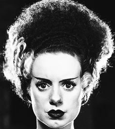 Elsa Lanchester for Bride of Frankenstein, 1935 Via http://hollywoodlady.tumblr.com/