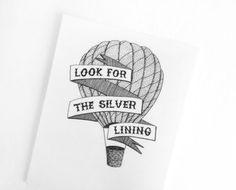 1920s temporary tattoo // Look for the silver lining. $8.00, via Etsy.