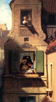 Secret message, Carl Spitzweg German painter, 19th century