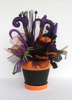 halloween witch arrangement halloween decor halloween party decorations witches purple boots halloween centerpiece witch boots decor - Halloween Centerpiece