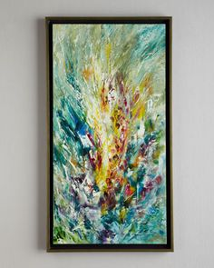 """""""Gladiolus"""" Jinlu Oil Painting by John-Richard Collection at Neiman Marcus."""