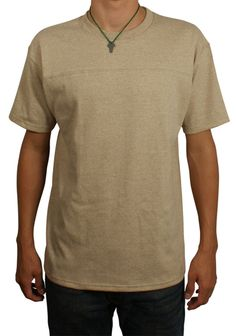 Made in USA Football Yoke Shirt - #Goodwear - 100% Heavyweight Cotton (http://www.goodwear.com/short-sleeve-football-yoke-heavyweight-jersey/) $16.80 (Orig. $24)