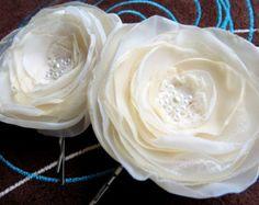Capelli da sposa fiori matrimonio parrucchino di LeFlowers su Etsy